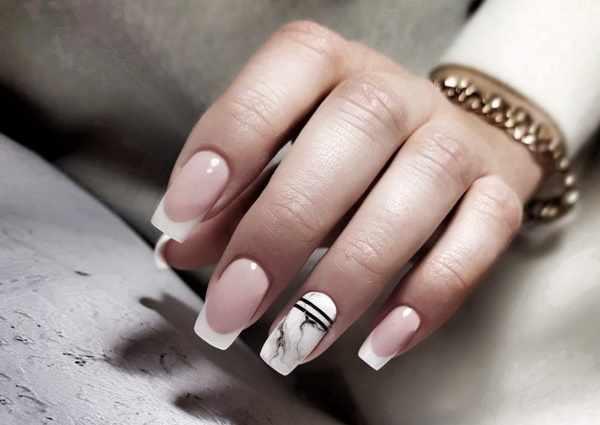 Мраморные ногти гель-лаком. Фото поэтапно с блестками, френчем, золотом