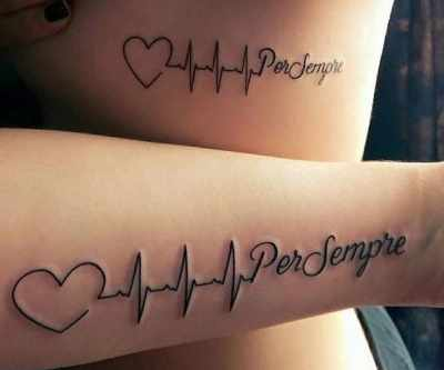 Татуировки для пары влюбленных со смыслом, надписи, фото с расшифровкой